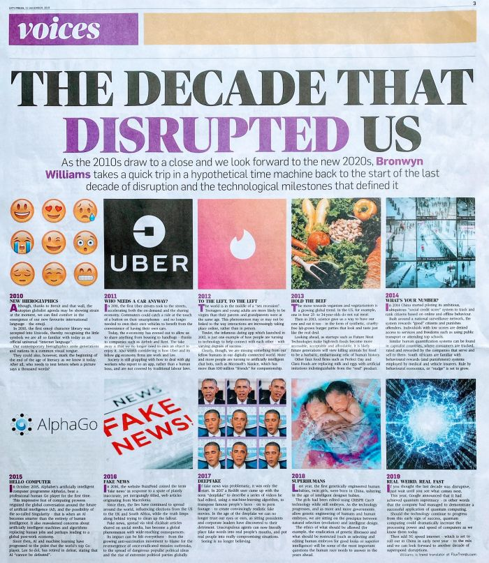 The decade that disrupted us futurist bronwyn williams