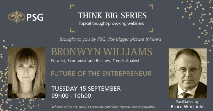PSG Think Big Series with Bronwyn Williams